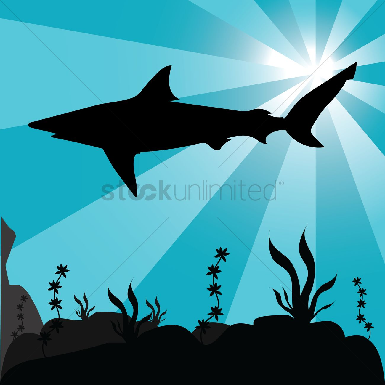 silhouette of underwater fish vector image 1501880 stockunlimited
