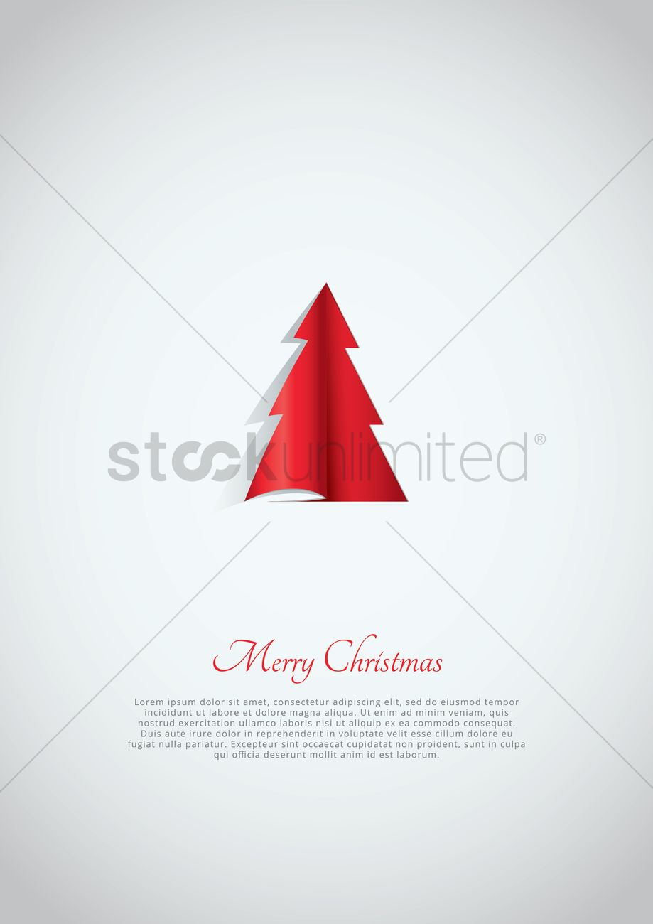 Simple Christmas Greeting Design Vector Image 2002932 Stockunlimited