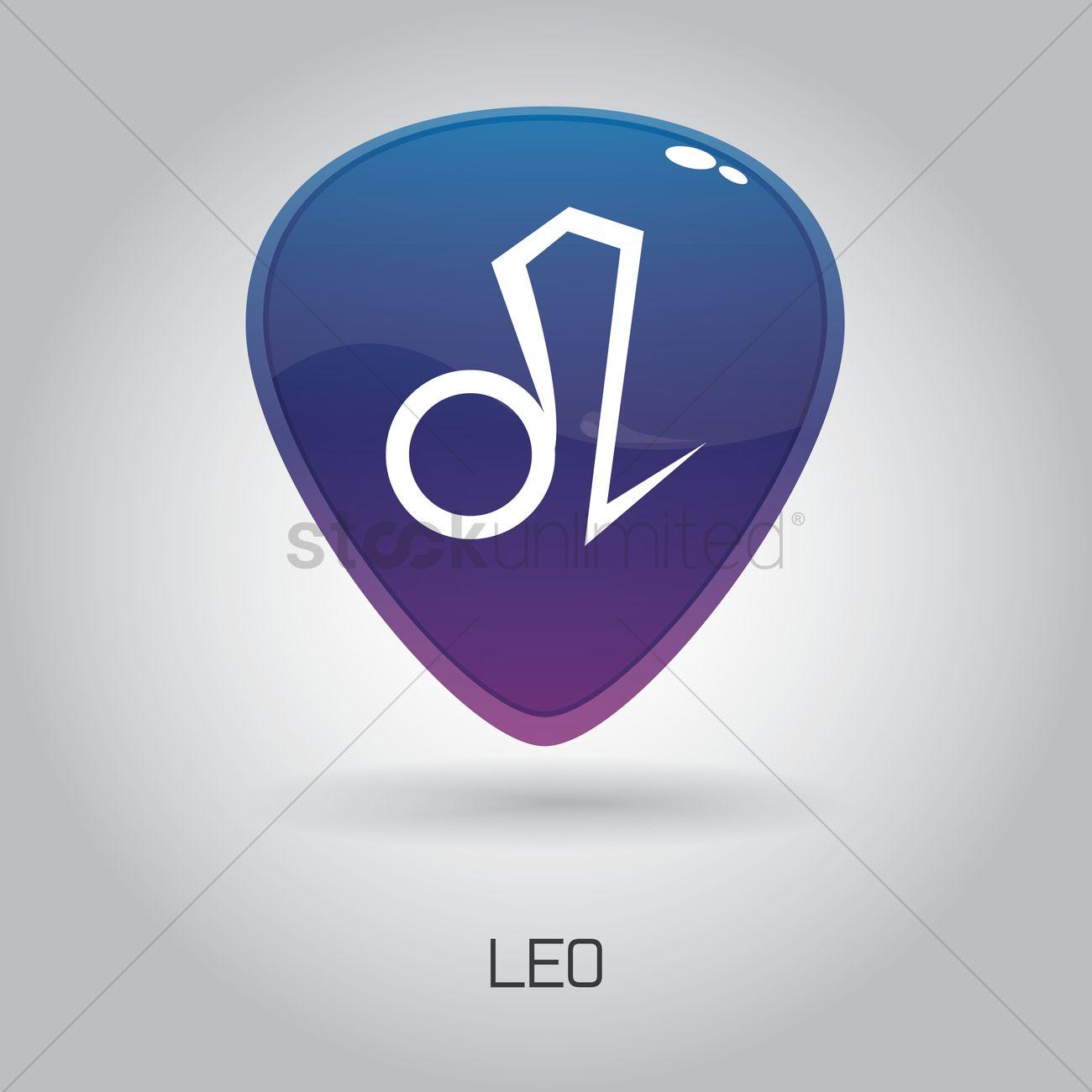 Sketchy Zodiac Leo Symbol Vector Image 1414444 Stockunlimited