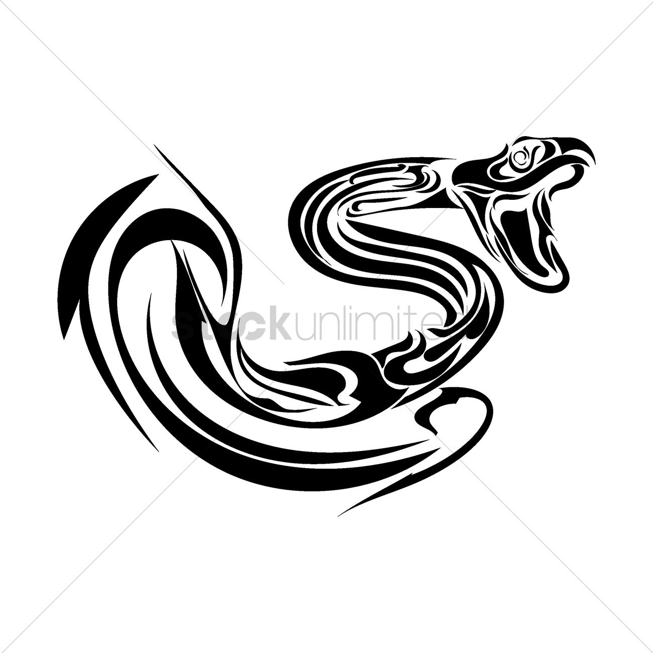 Snake Tattoo Line Drawing : Snake tattoo design vector image stockunlimited