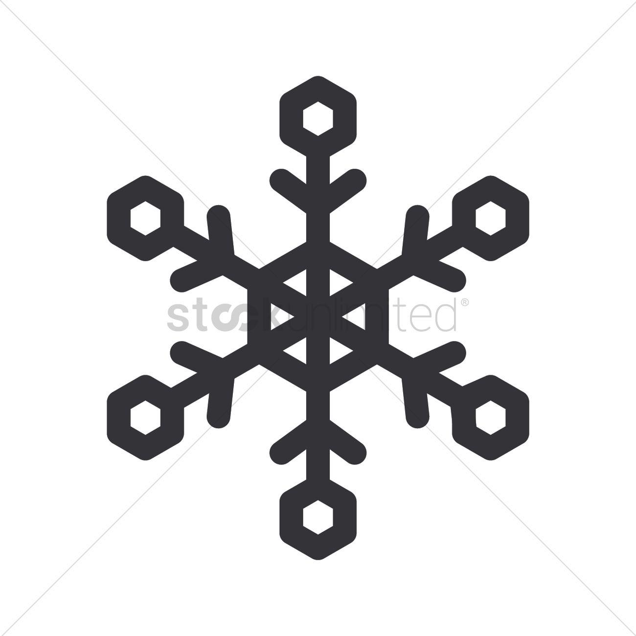 Snowflake Icon Vector Image 2024552 Stockunlimited