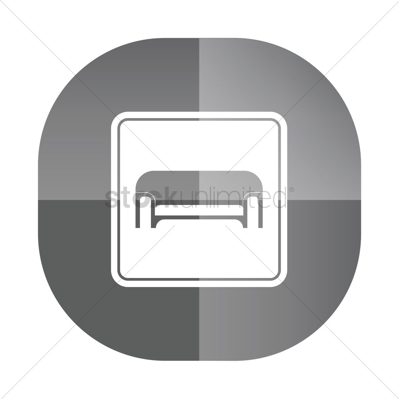 Sofa Icon Vector Image 1814704 Stockunlimited