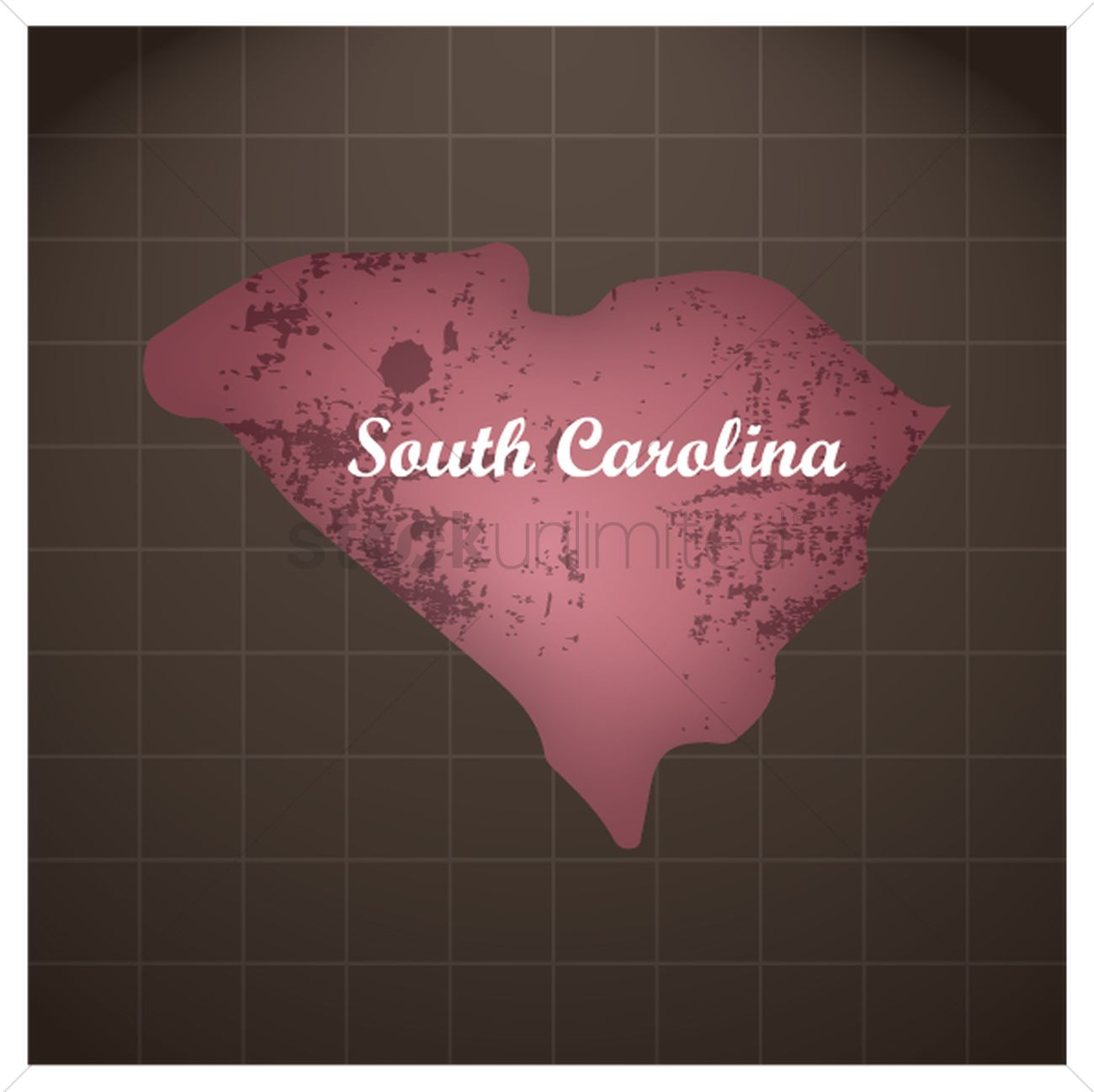 South carolina state map Vector Image - 1591132 | StockUnlimited