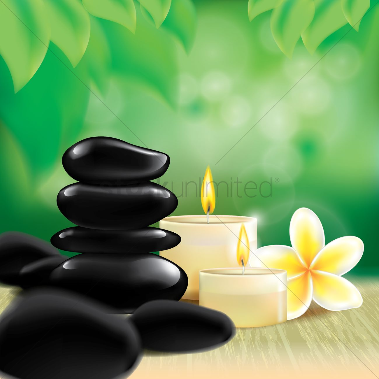 spa stones with candles vector image 1807552 stockunlimited