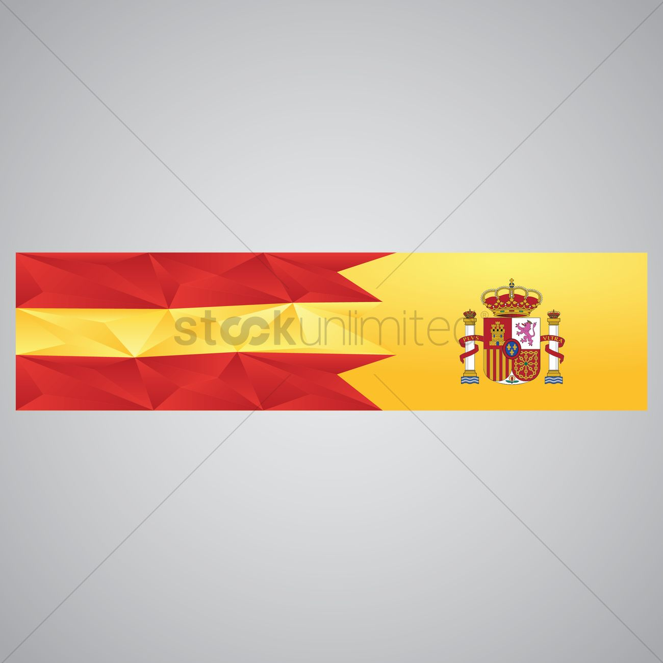 spain flag banner vector image 1565108 stockunlimited