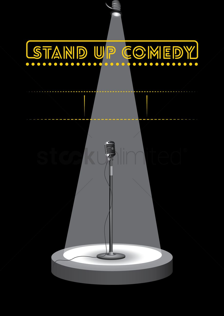 Stand Up Comedy Poster Design Vector Image 1974556 Stockunlimited