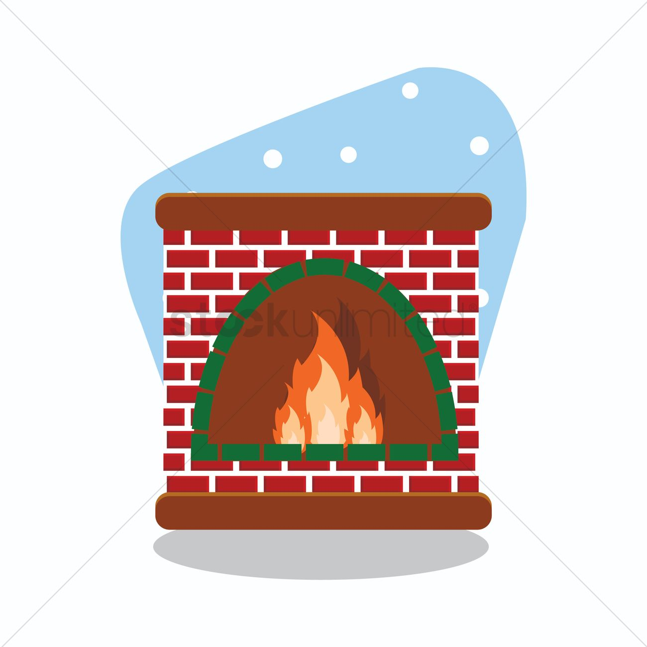 Stone Fireplace Vector Image 1293328 Stockunlimited