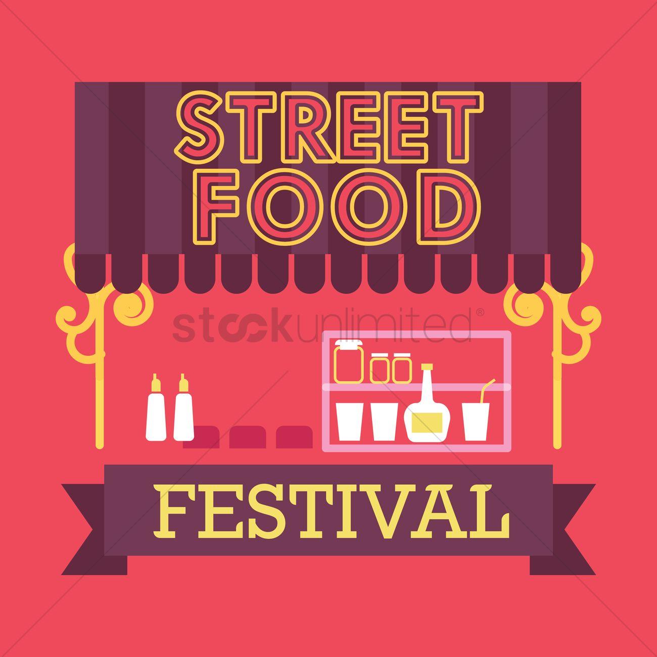 Street Food Festival Design Vector Graphic