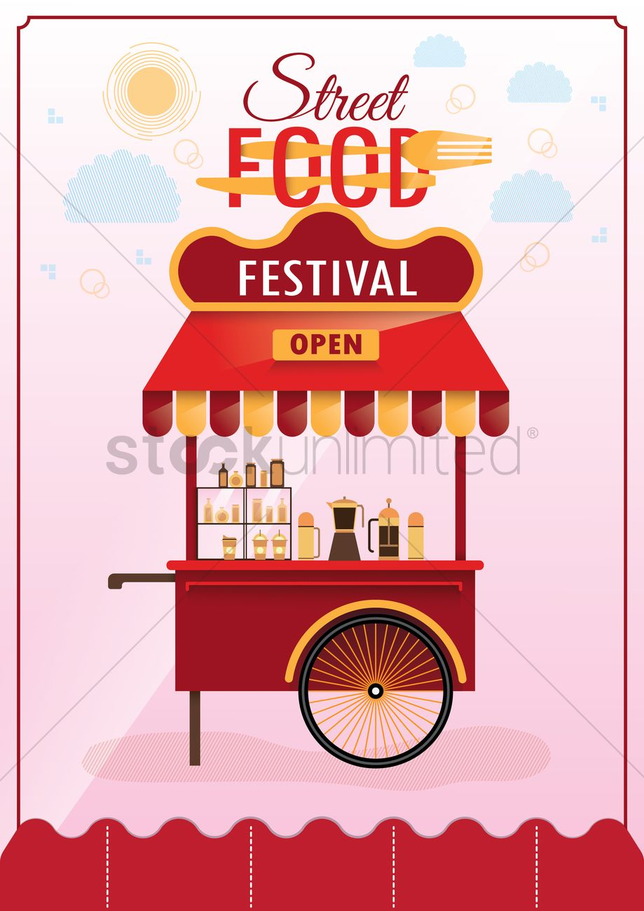 Street Food Festival Poster Design Vector Image 1974812