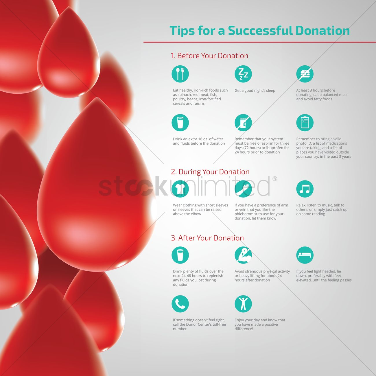 Successful blood donation tips design vector image 1962080 successful blood donation tips design vector graphic ccuart Gallery