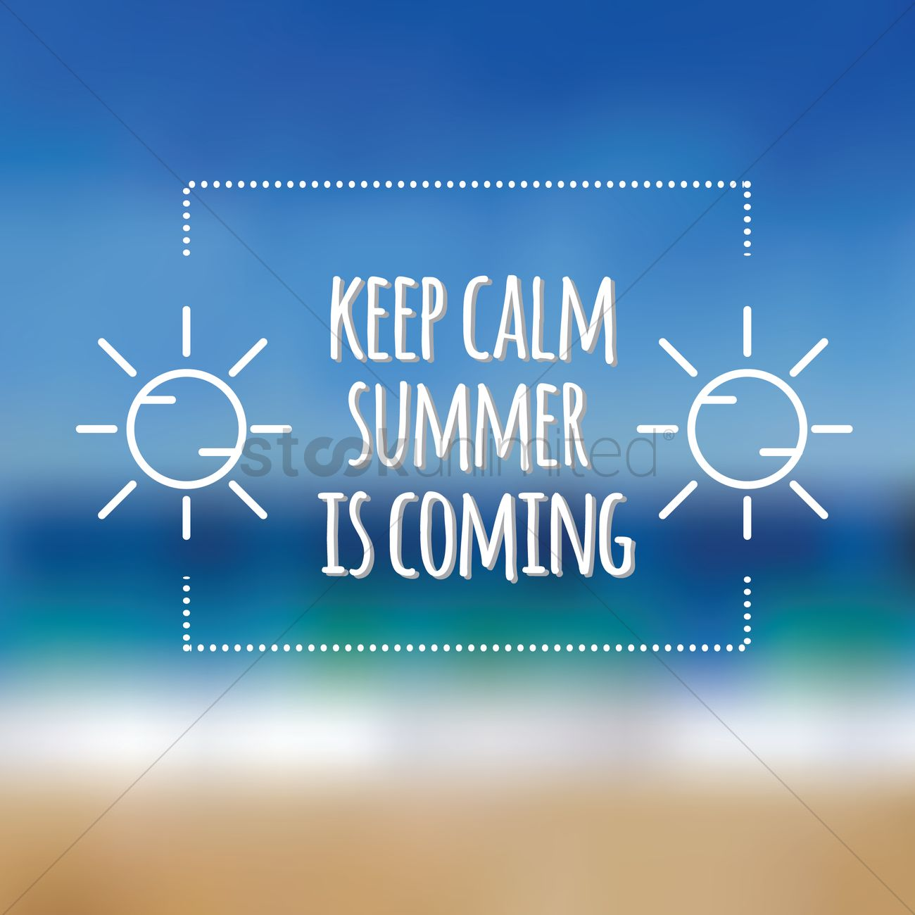 Superb Summer Is Coming Card Vector Graphic