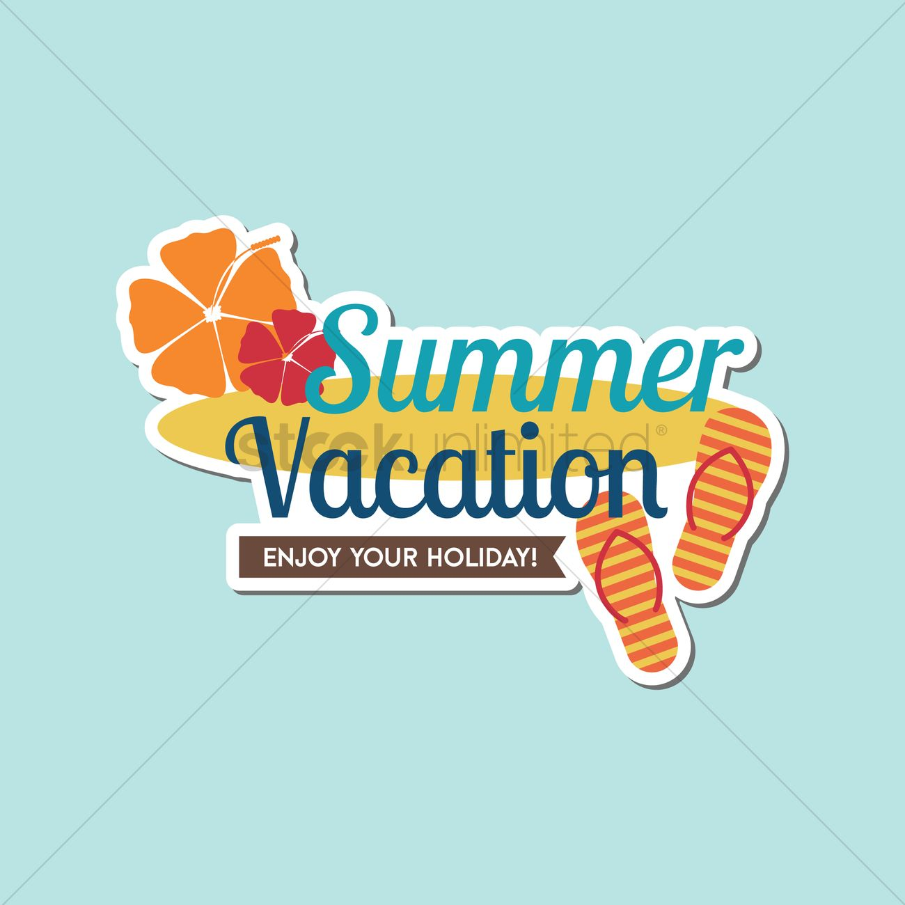 summer vacation vector image 1772528 stockunlimited