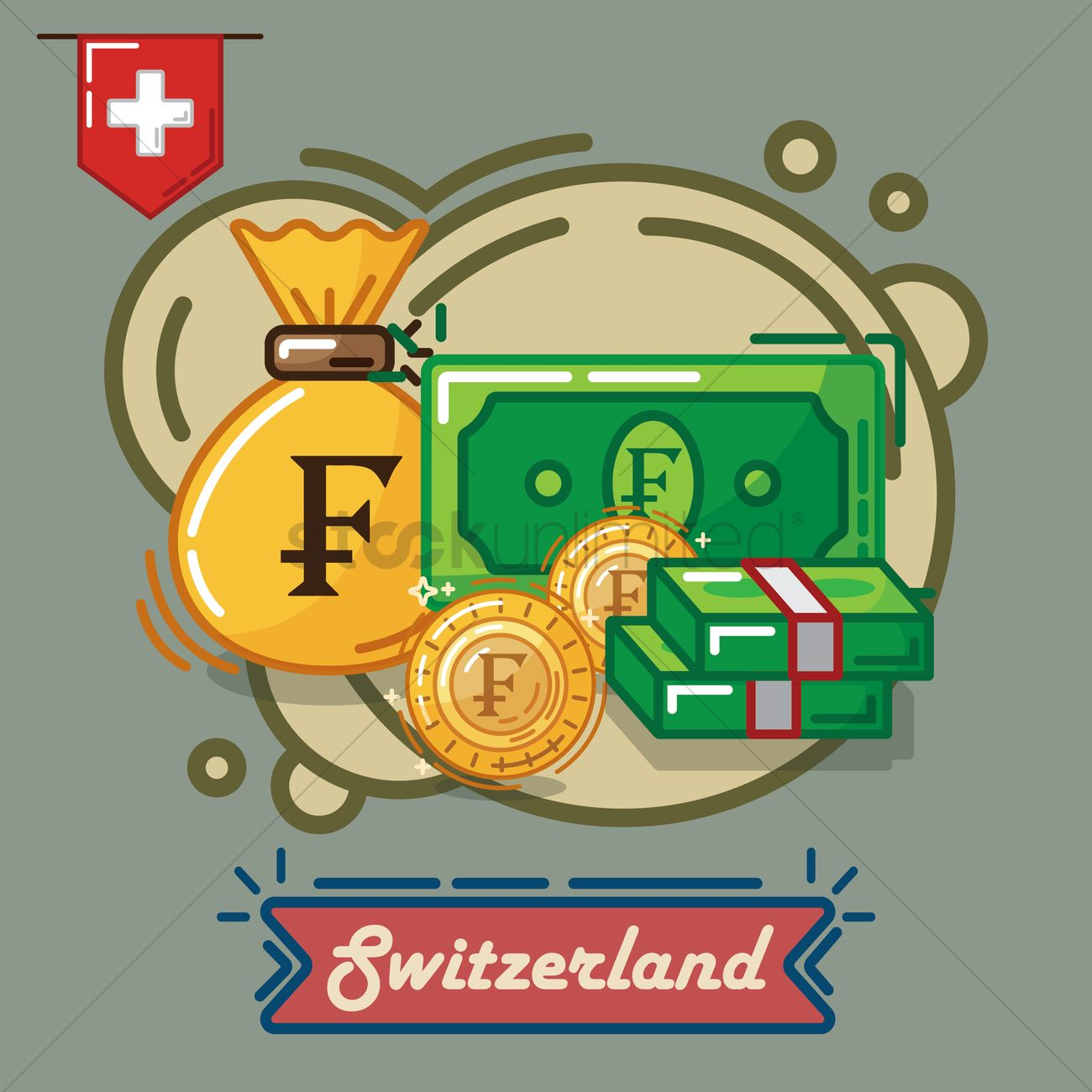 Switzerland franc currency vector image 2019412 stockunlimited switzerland franc currency vector graphic buycottarizona Images