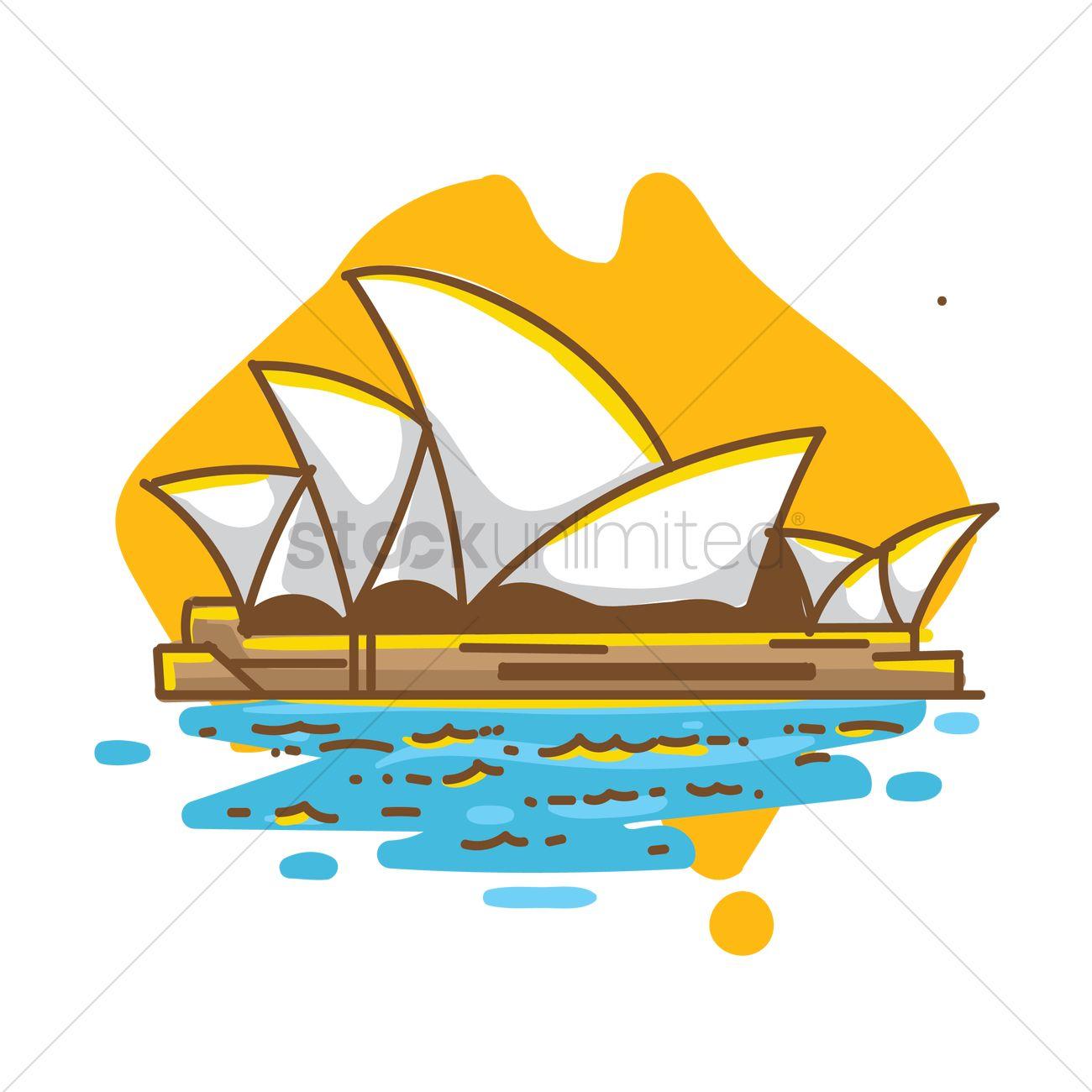 sydney opera house on australia map 1961804 - Get Sydney Opera House Cartoon Image  Pictures