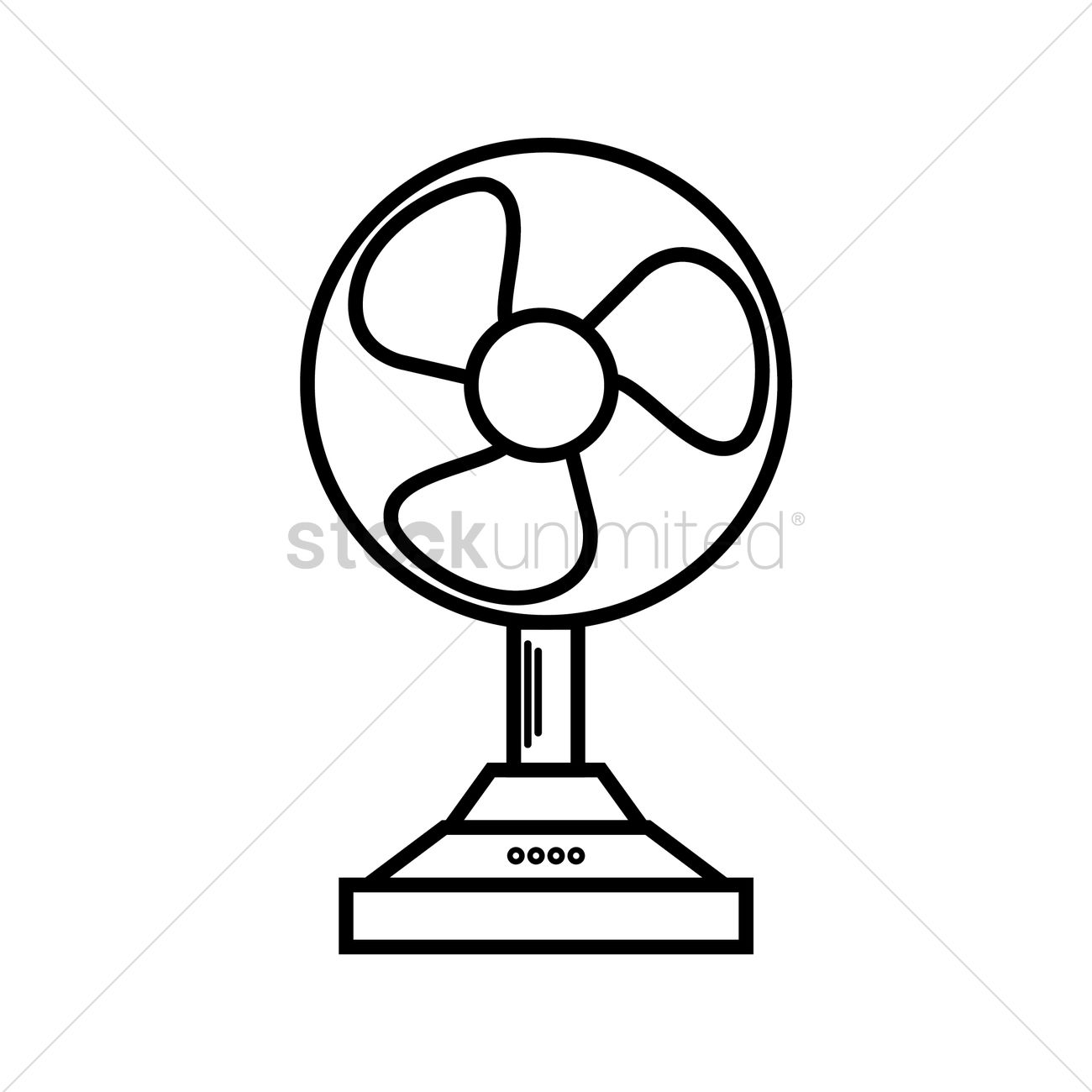 Fan Blade Outline : Table fan vector image stockunlimited