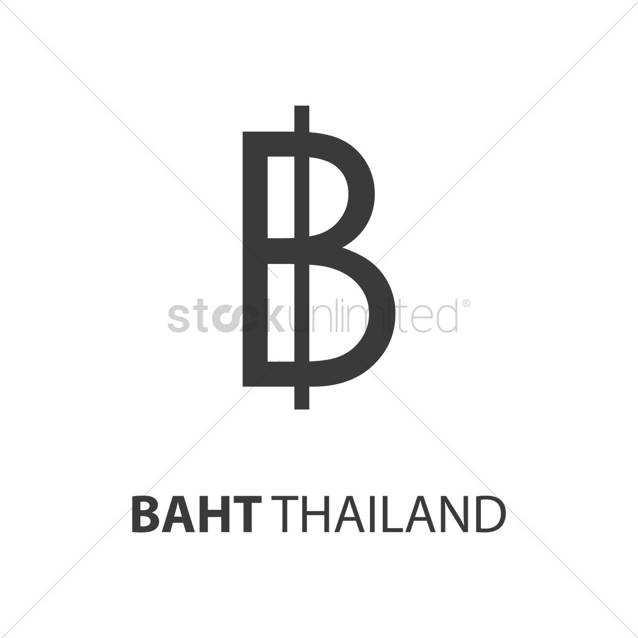 Thai Baht Vector Image 1753676 Stockunlimited