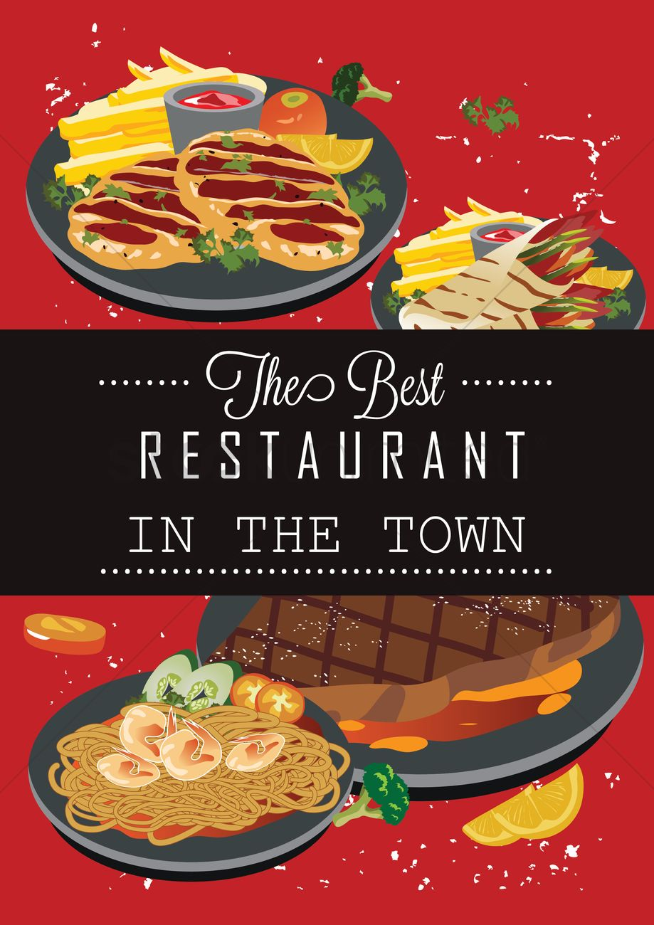 The Best Restaurant In Town Poster Vector Graphic