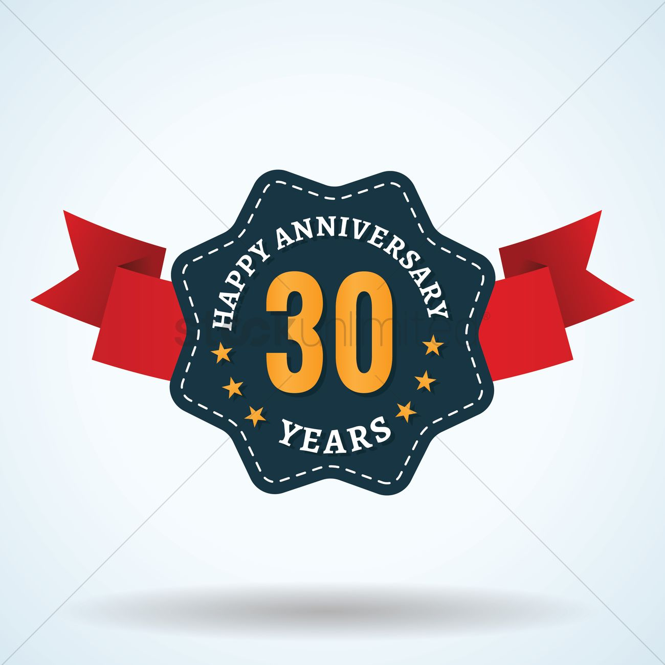 Thirty Years Anniversary Label Vector Image 1825368 Stockunlimited