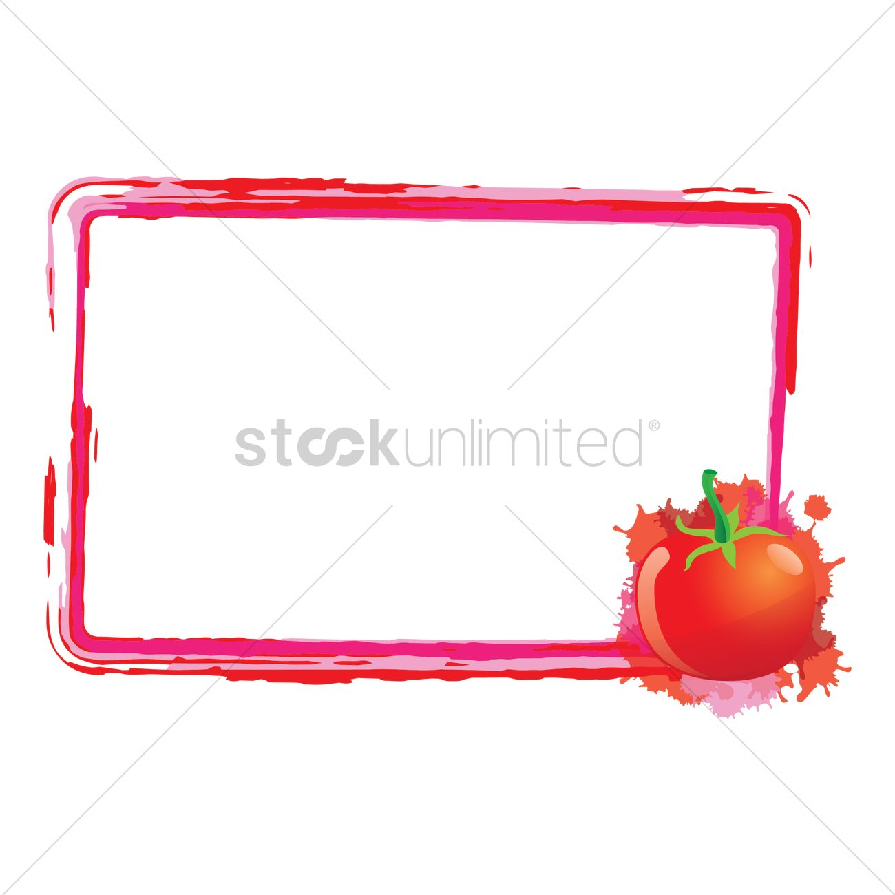 Tomato frame Vector Image - 1471220 | StockUnlimited