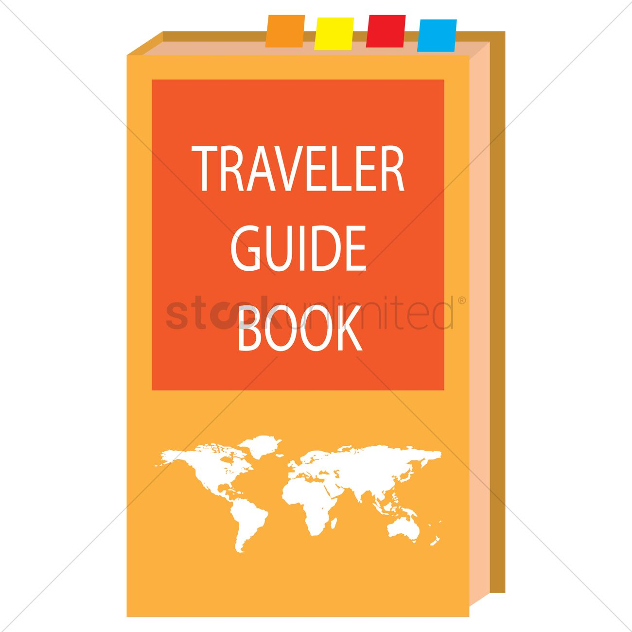 Travel Guide Book Vector Graphic