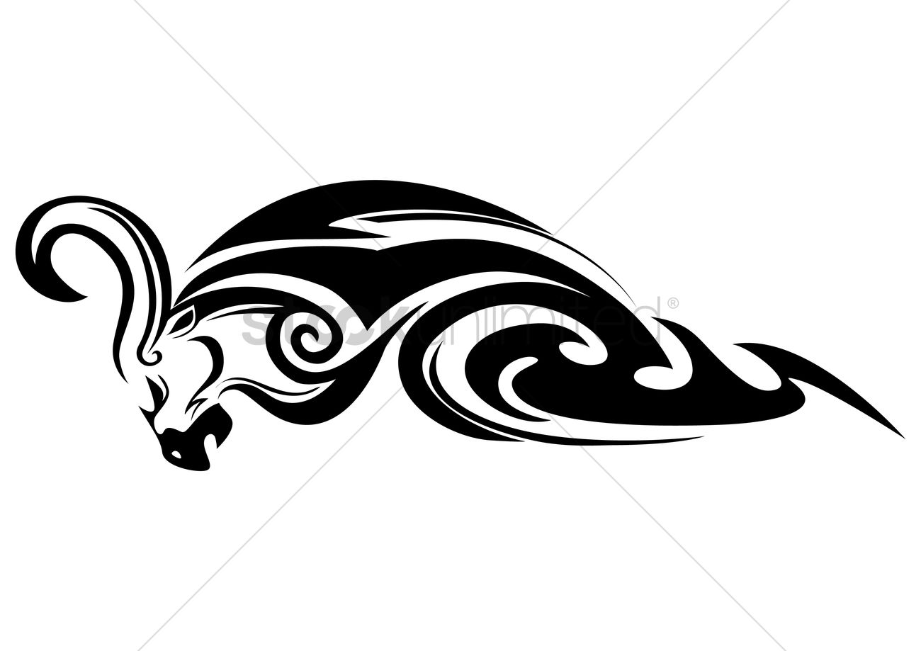 free tribal bull tattoo vector image 1467428 stockunlimited. Black Bedroom Furniture Sets. Home Design Ideas