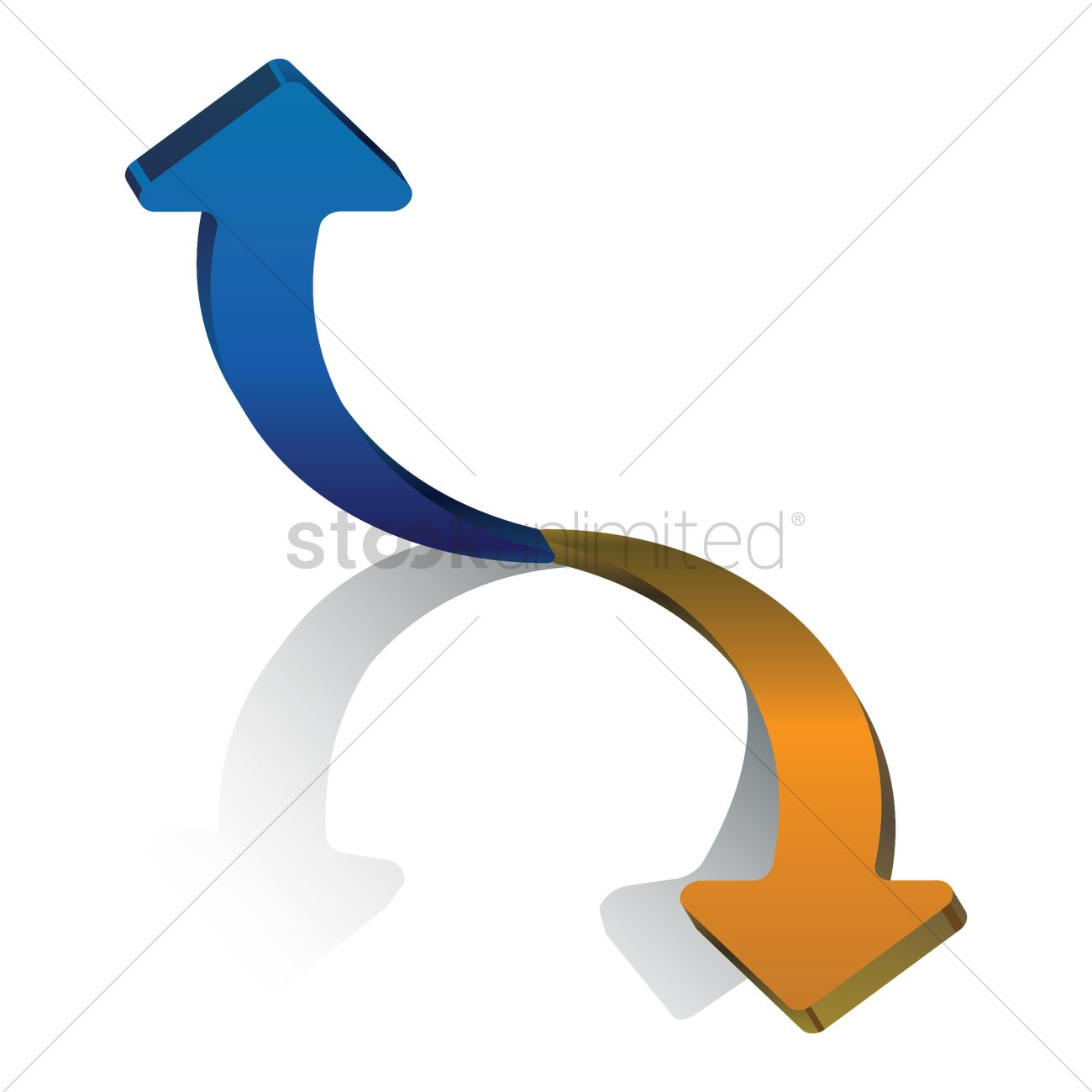 Two Way Directional Arrows Vector Image 1632056 Stockunlimited
