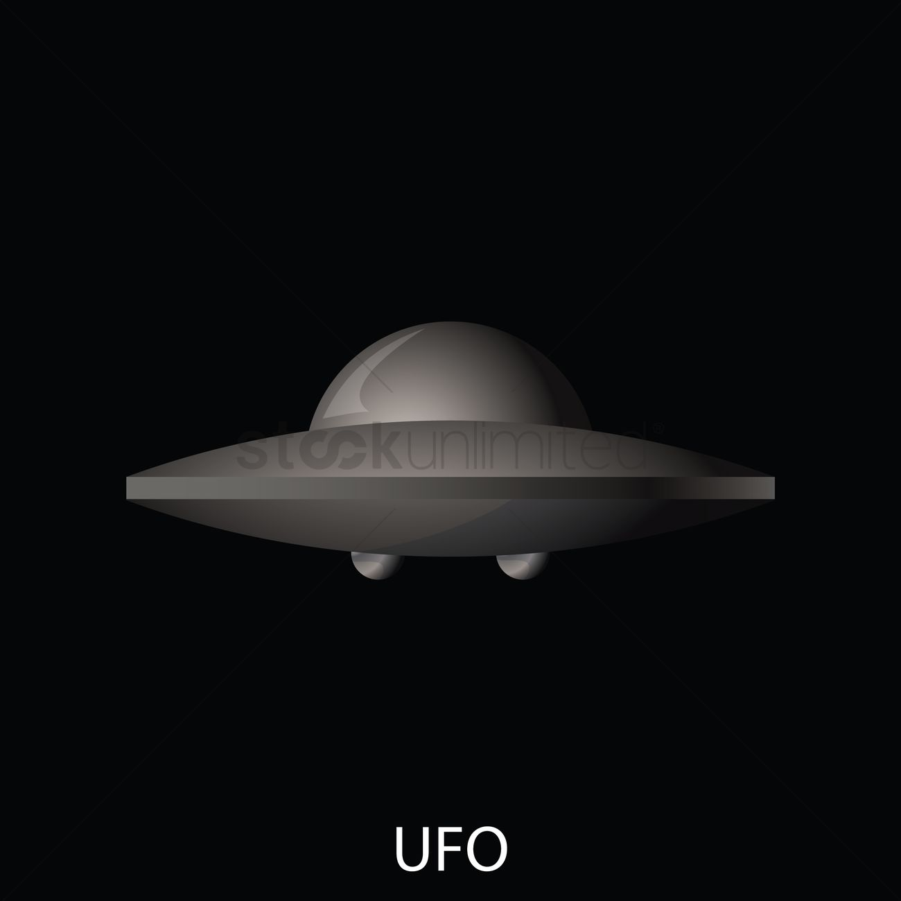 Ufo against black background Vector Image - 1826724 | StockUnlimited for Ufo Black Background  66pct