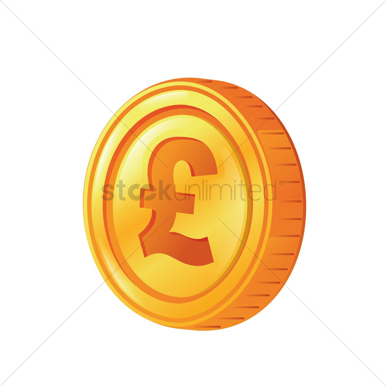 Uk Pound Currency On A Coin Vector Image 1989404 Stockunlimited