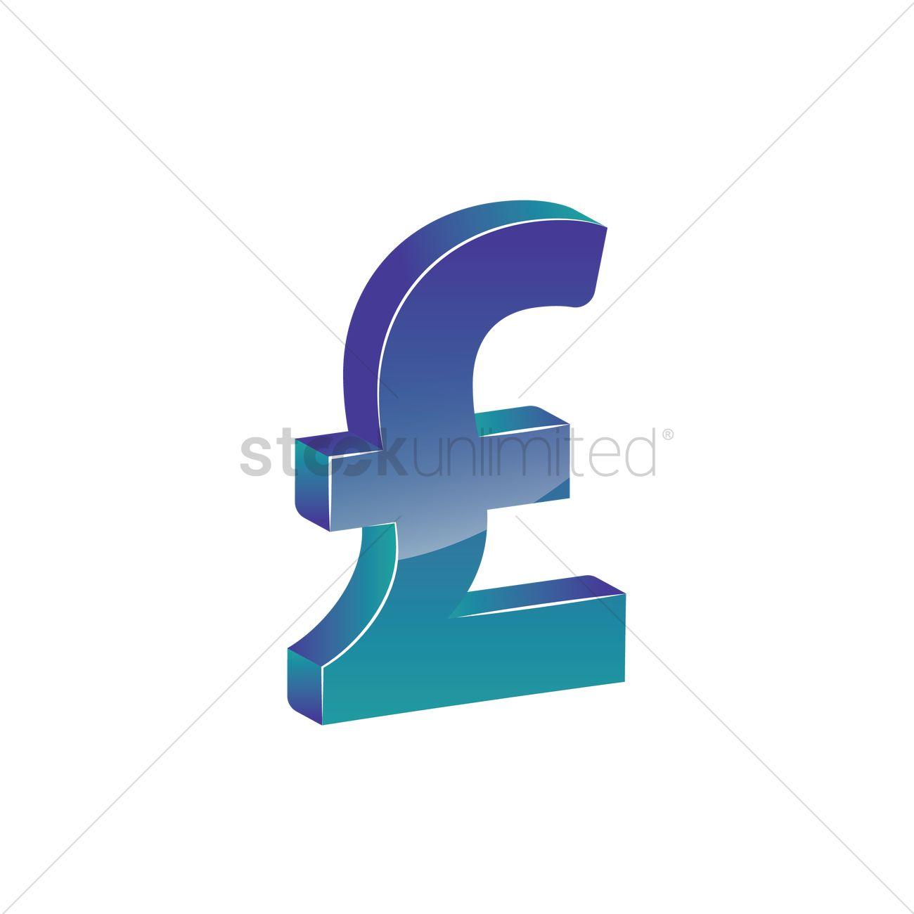 Uk Pound Sterling Symbol Vector Image 1866308 Stockunlimited