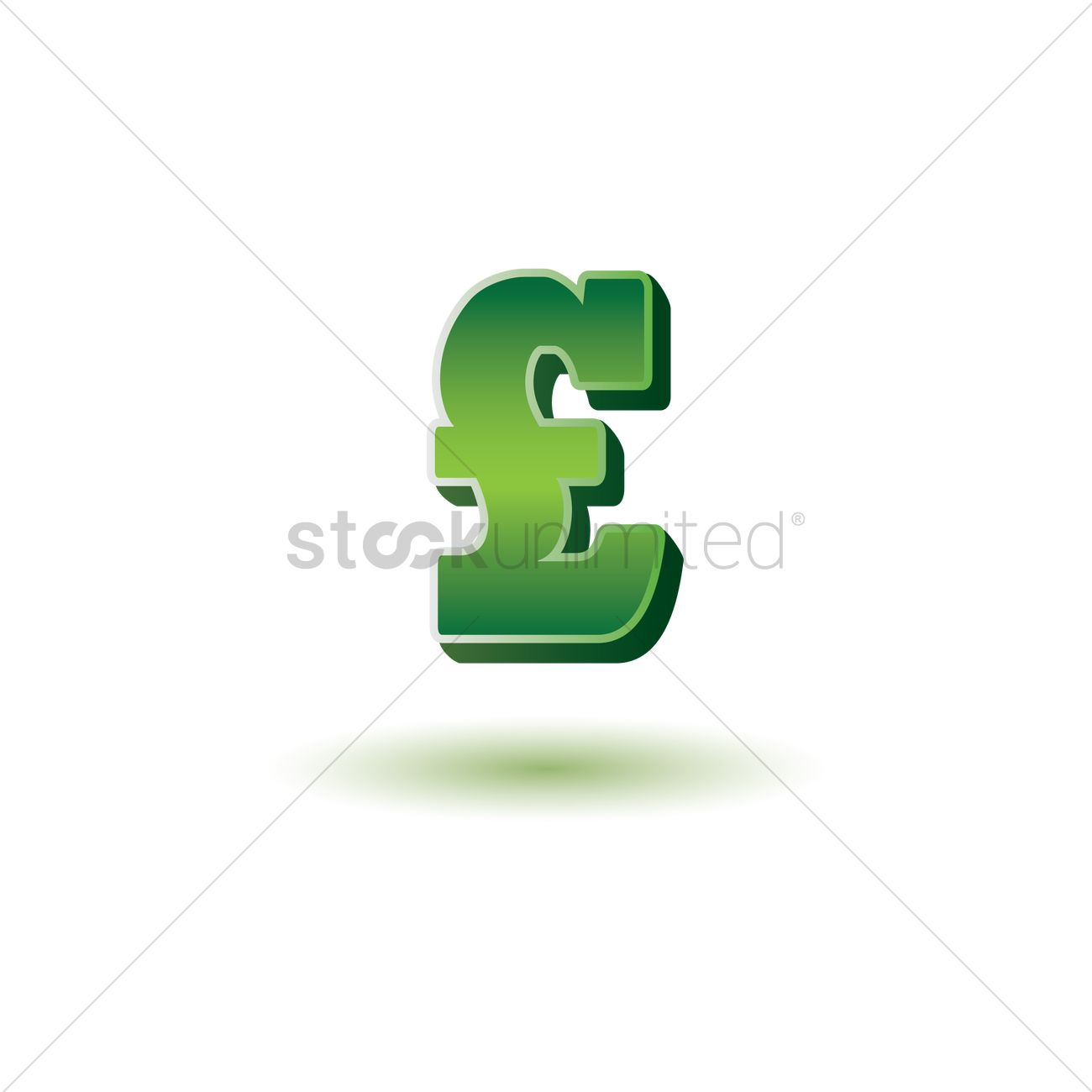 Uk Pound Sterling Symbol Vector Image 1870796 Stockunlimited