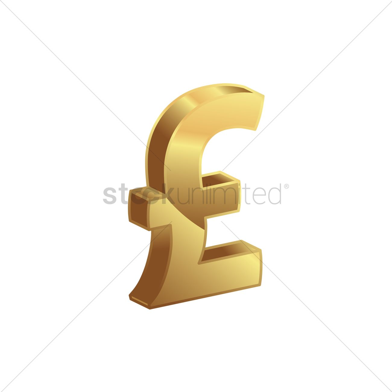 Uk Pound Sterling Vector Image 1871072 Stockunlimited