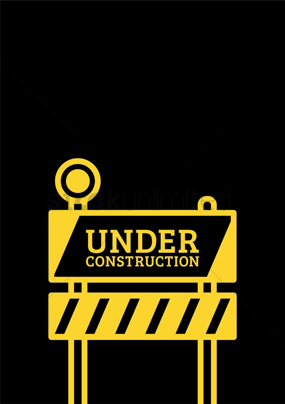 Under Construction Template Design Vector Image 2009548