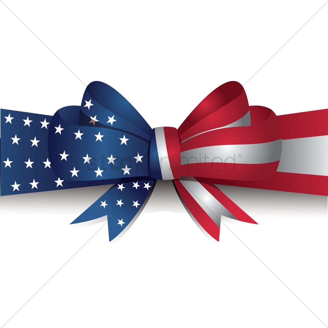 usa flag ribbon bow vector image 1512284 stockunlimited rh stockunlimited com Fun Bow Ties Bow Ties Clip Art