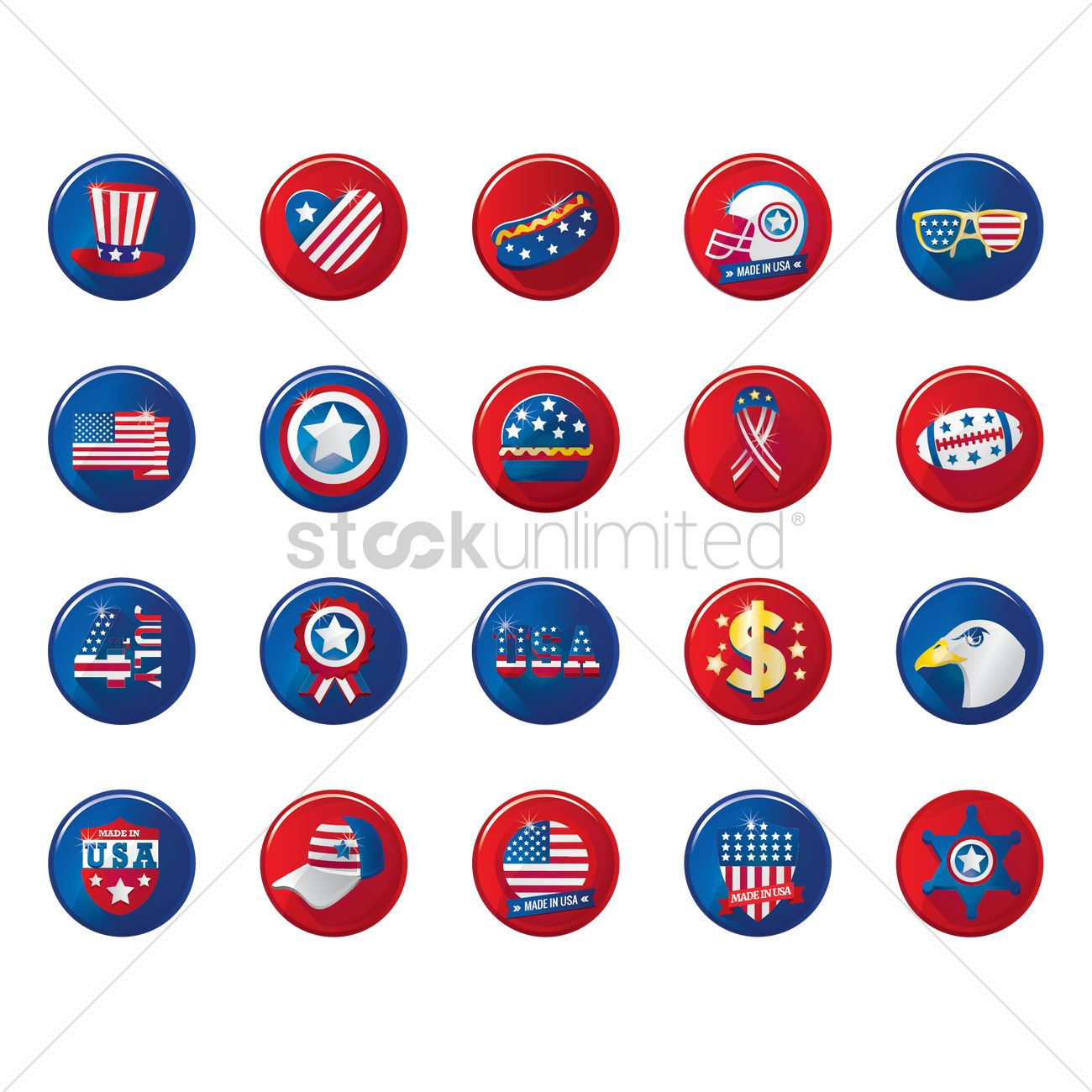 Usa Symbols Collection Vector Image 1531588 Stockunlimited