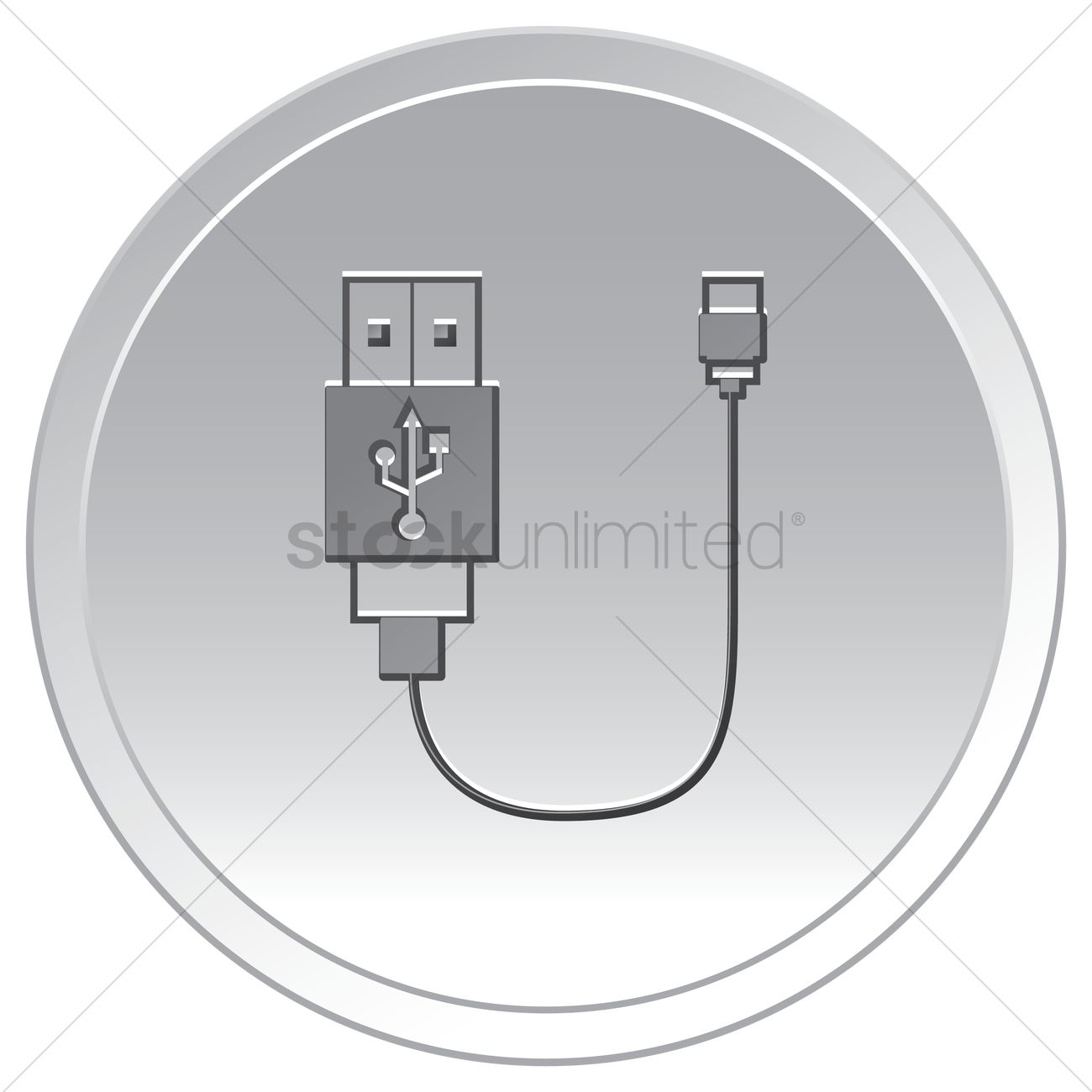 Usb cable Vector Image - 1635872 | StockUnlimited