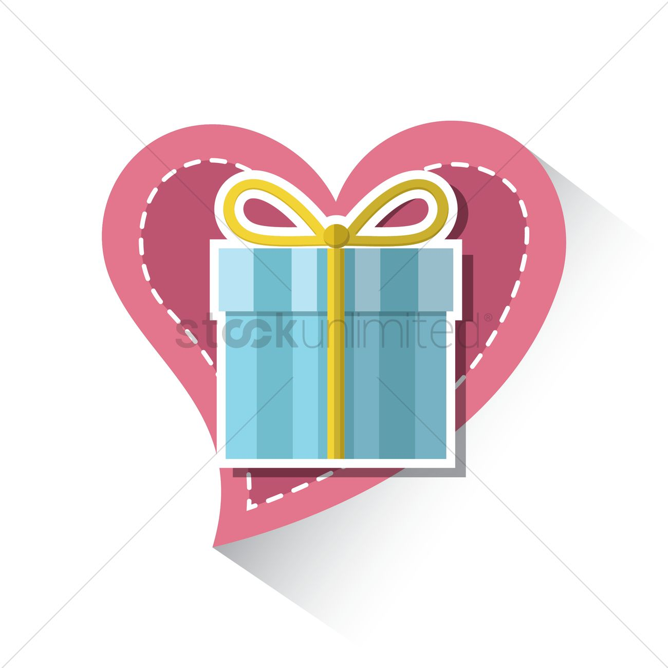 Valentine Gift Pack Vector Image 1491408 Stockunlimited