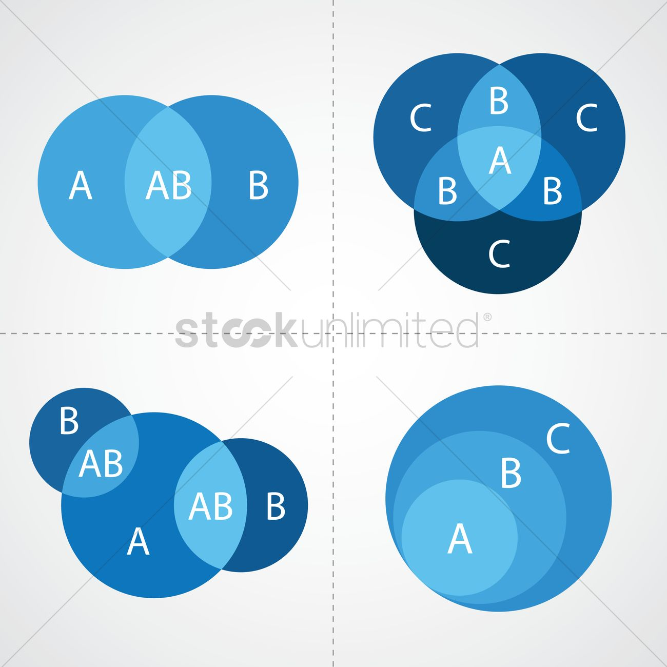 Venn diagram infographic vector image 1264512 stockunlimited venn diagram infographic vector graphic pooptronica Choice Image
