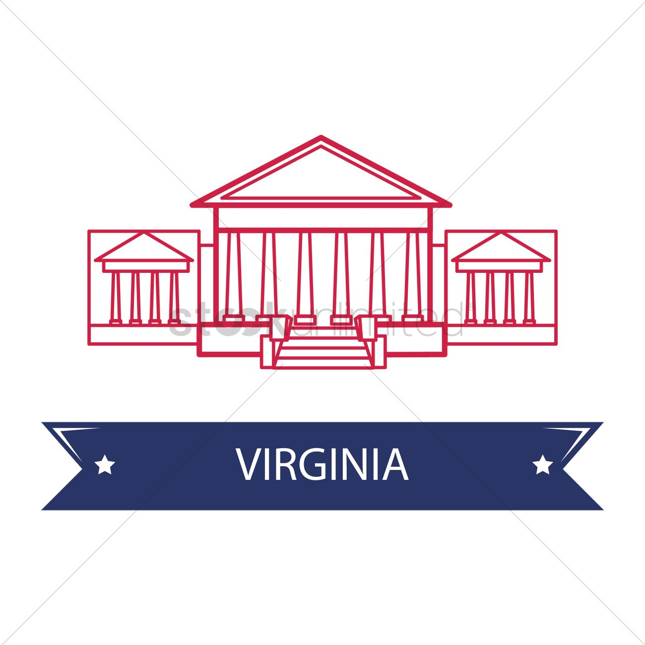 virginia state capitol vector graphic