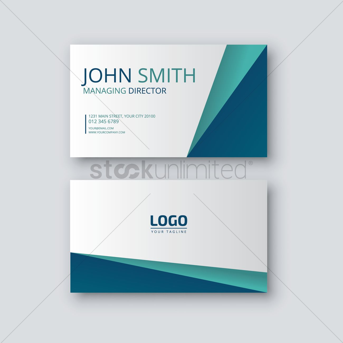visiting card vector image 1823276 stockunlimited