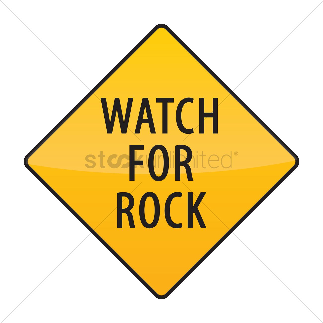 Watch for rock warning sign Vector Image - 1568956