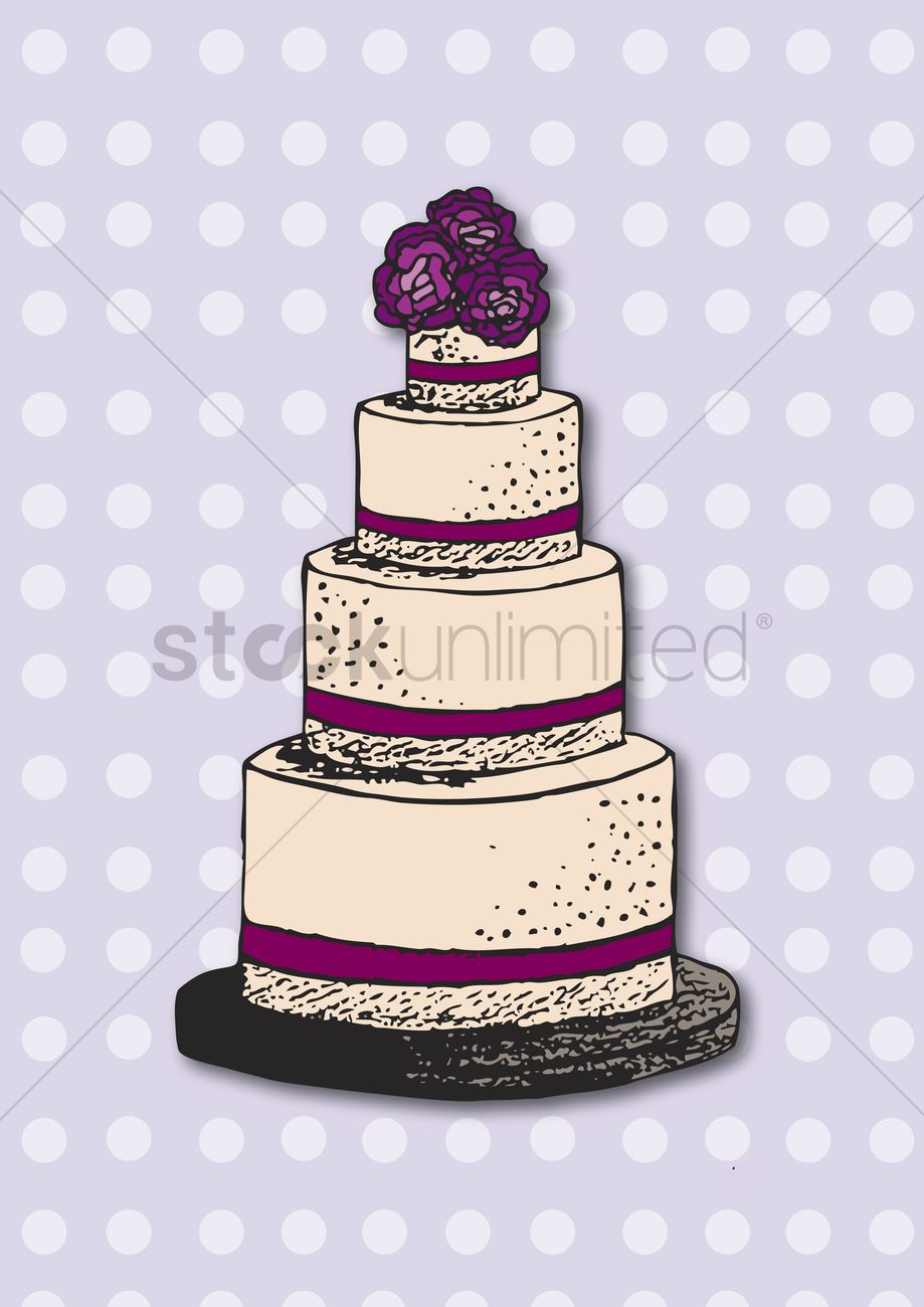 Free Wedding Cake Vector Image 1235360 Stockunlimited