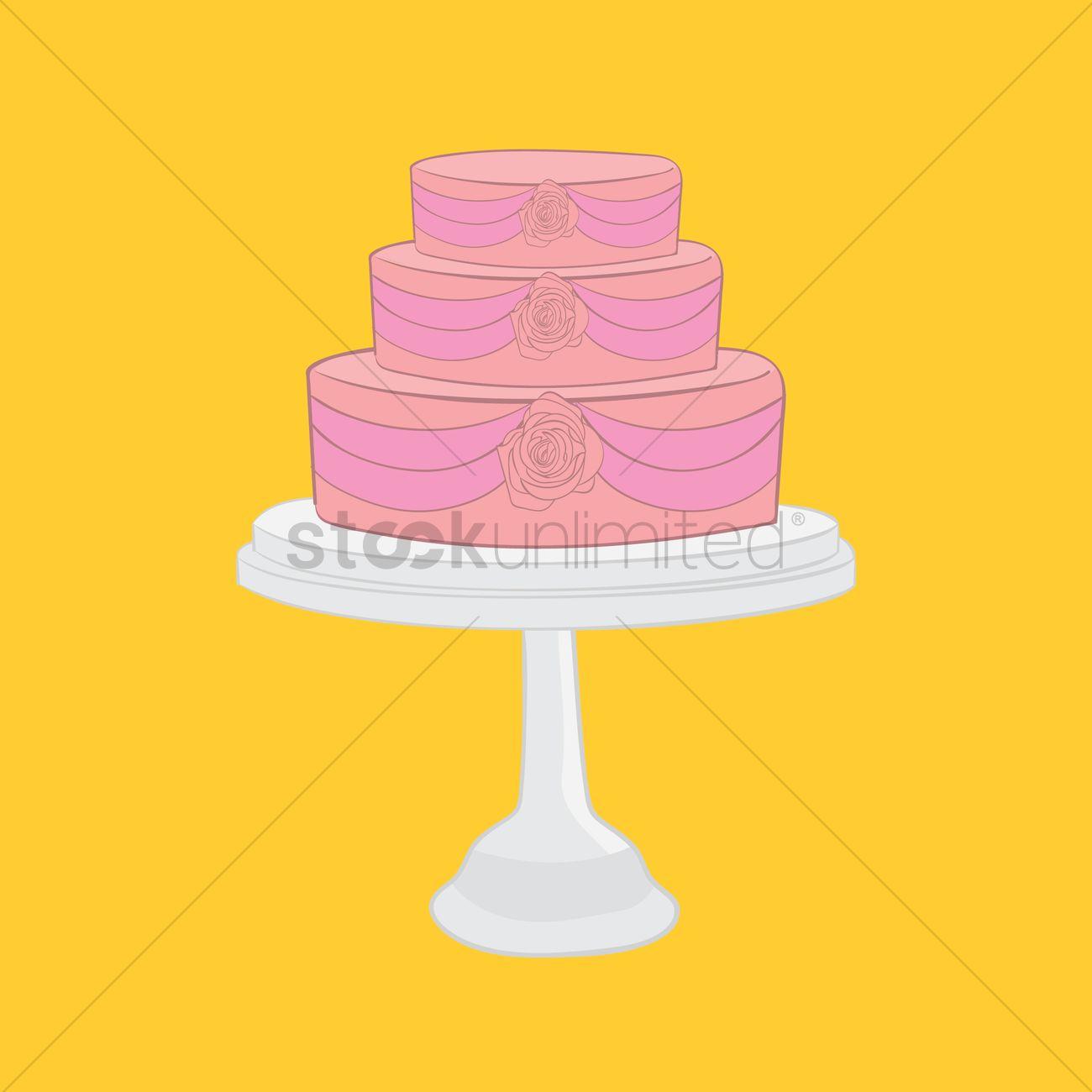 Wedding cake Vector Image - 1333724 | StockUnlimited