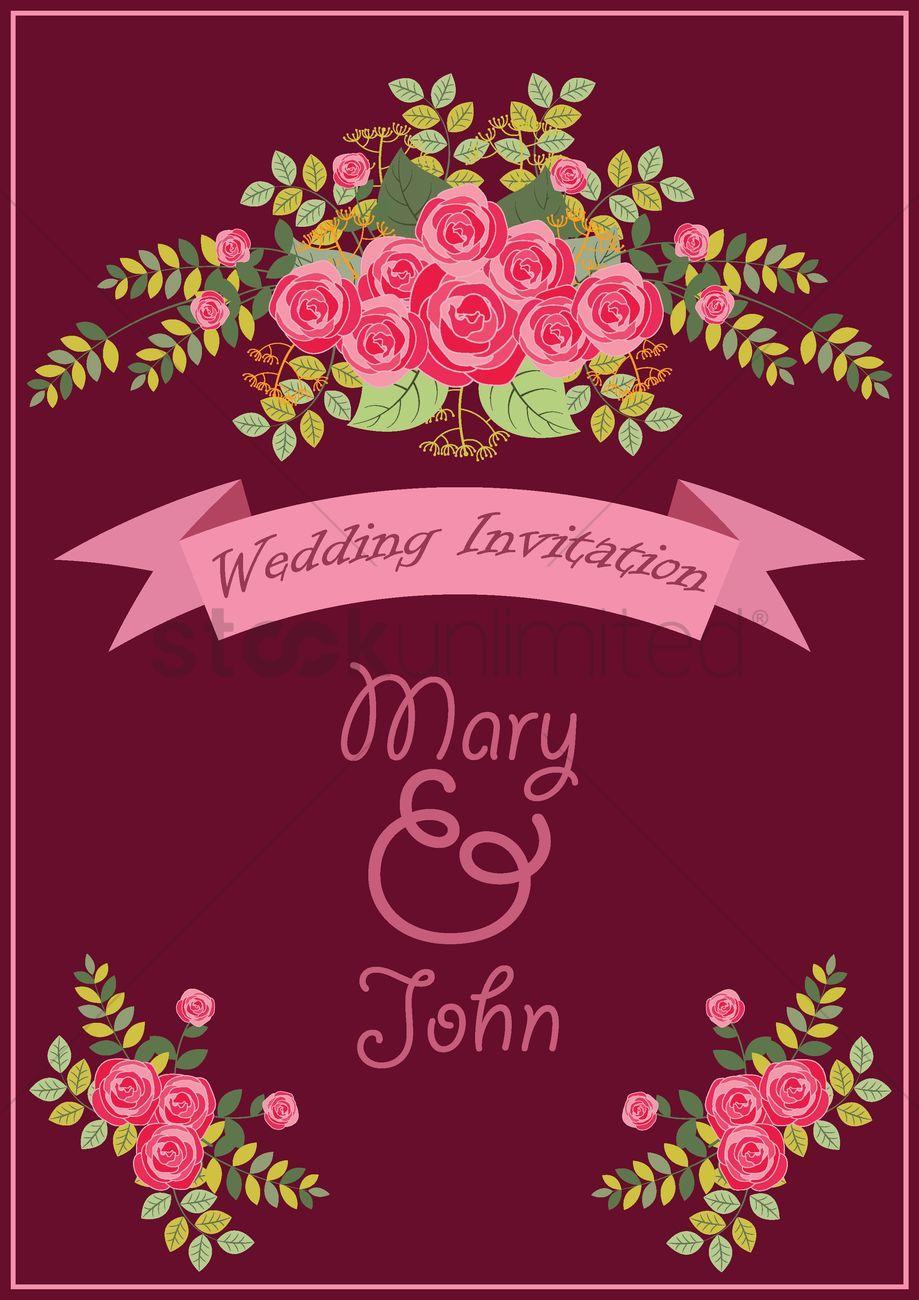 Wedding invitation design Vector Image - 1987024 | StockUnlimited