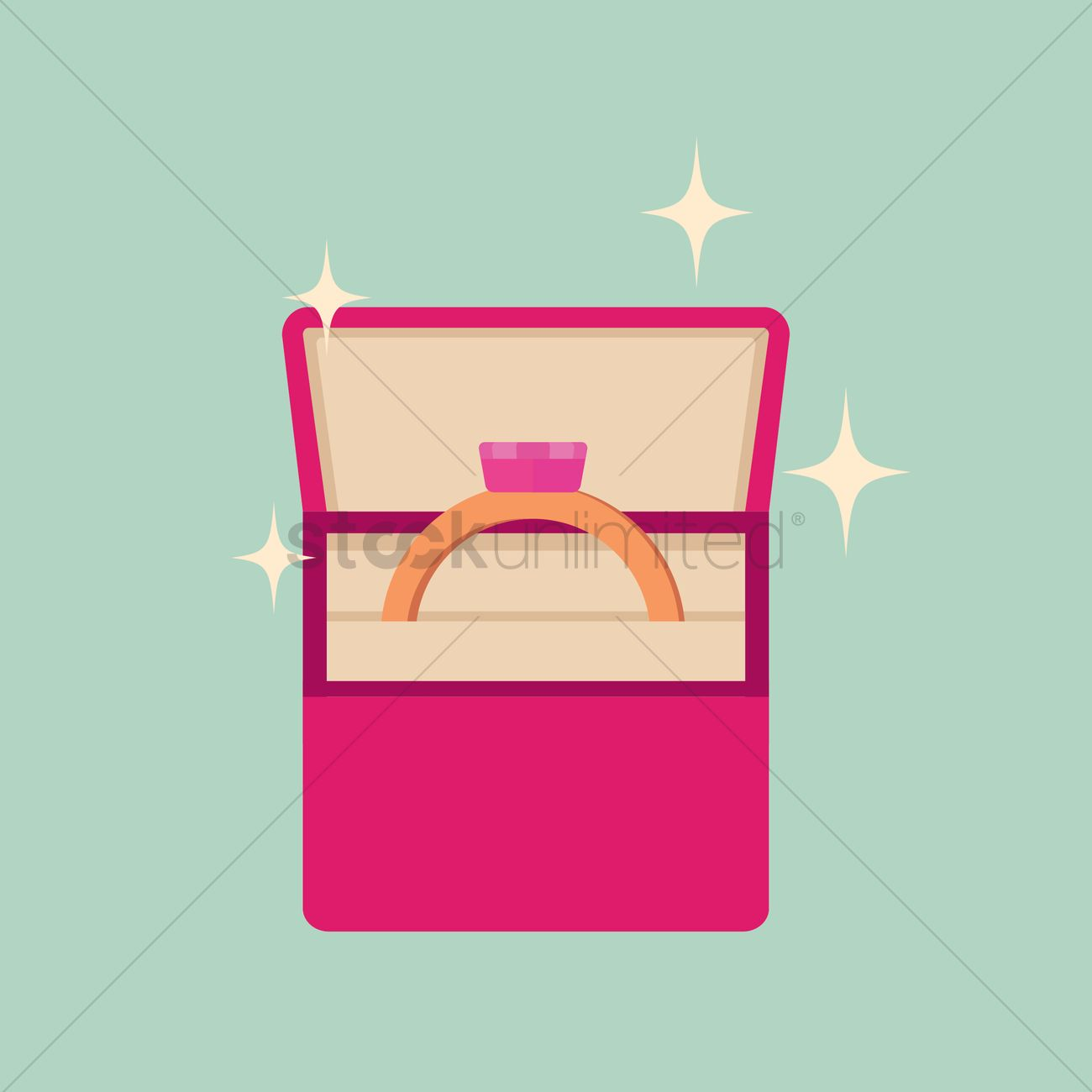 Wedding ring box Vector Image - 1389904 | StockUnlimited