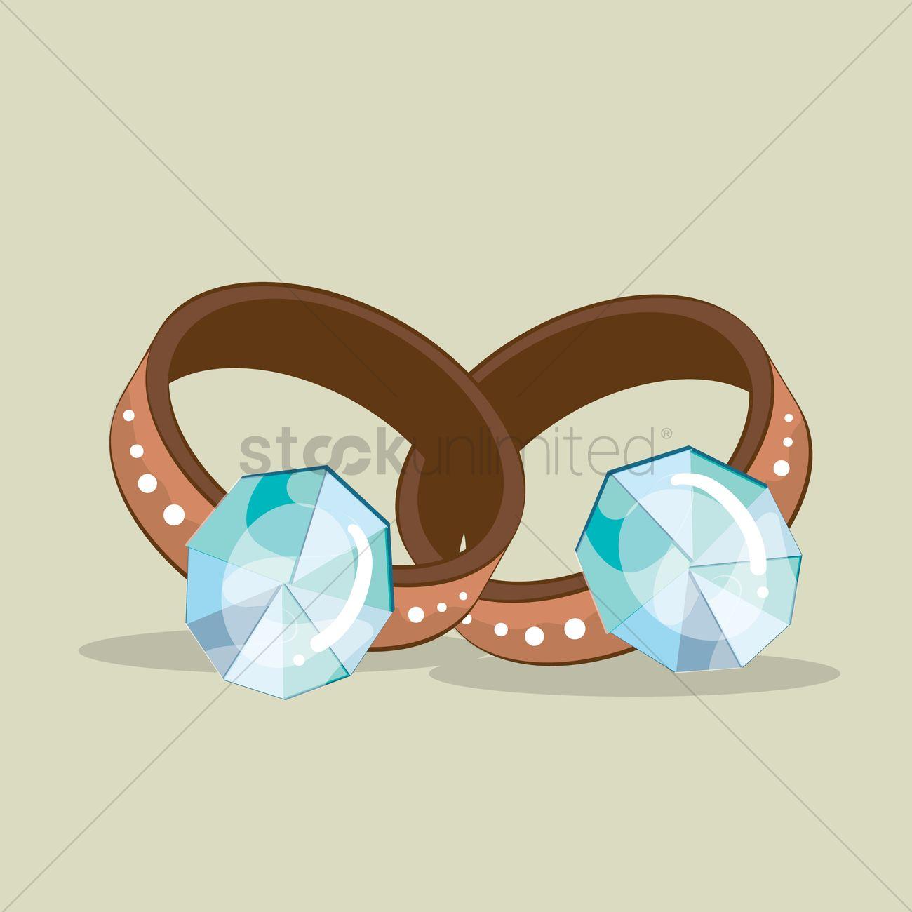 wedding rings vector image - 1327480   stockunlimited