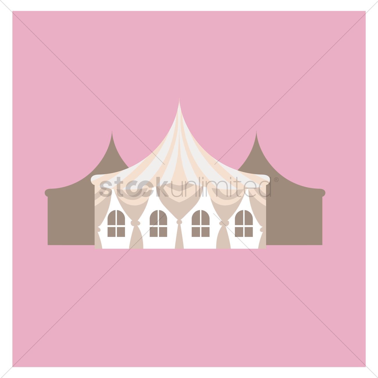 wedding tent house vector graphic  sc 1 st  StockUnlimited & Wedding tent house Vector Image - 1330976 | StockUnlimited