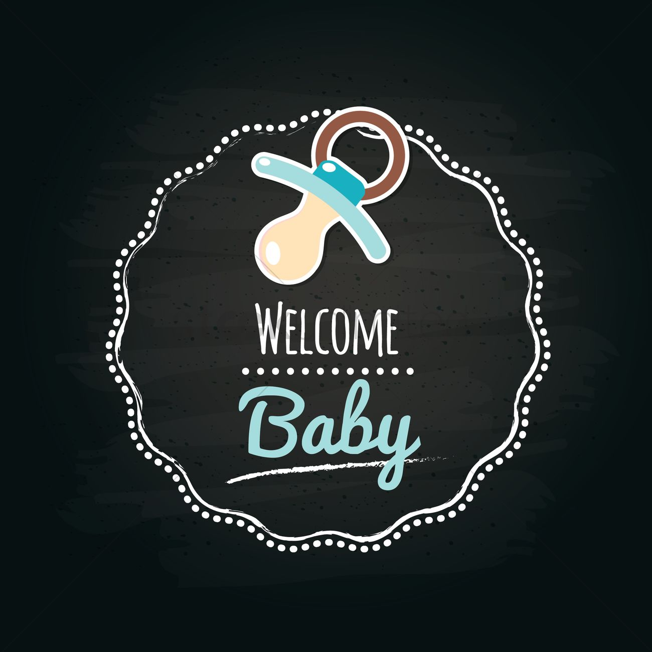 welcome baby label vector image 1617304 stockunlimited