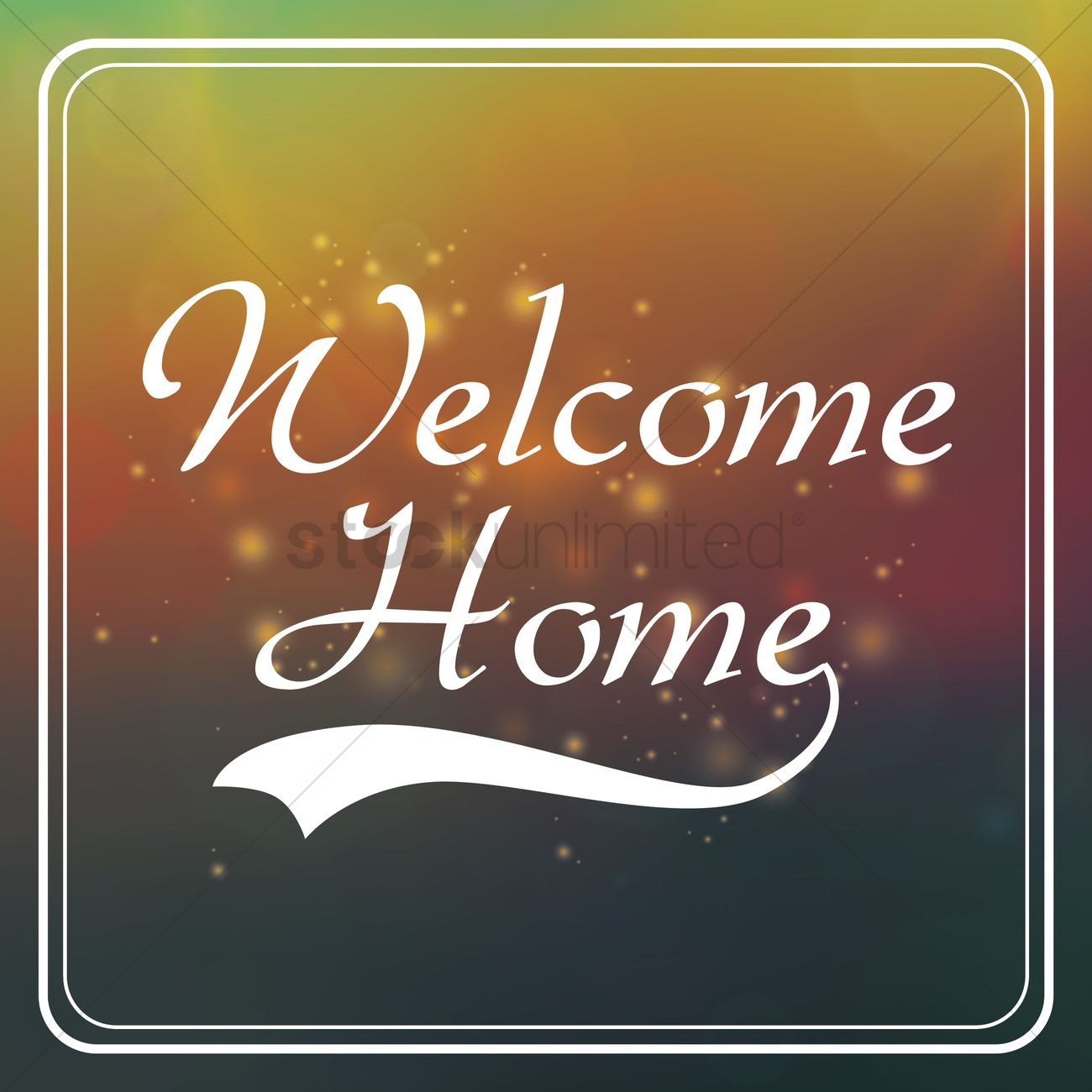 Welcome home greeting vector image 1610036 stockunlimited welcome home greeting vector graphic m4hsunfo
