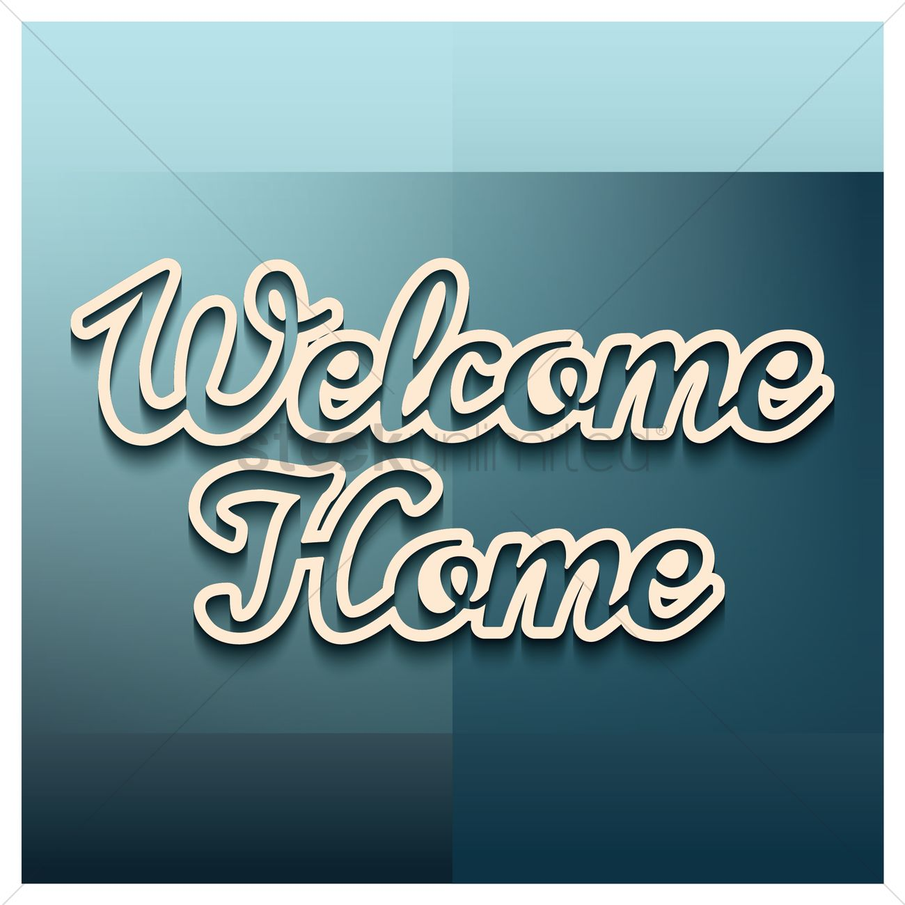 Welcome home greeting vector image 1811124 stockunlimited welcome home greeting vector graphic m4hsunfo
