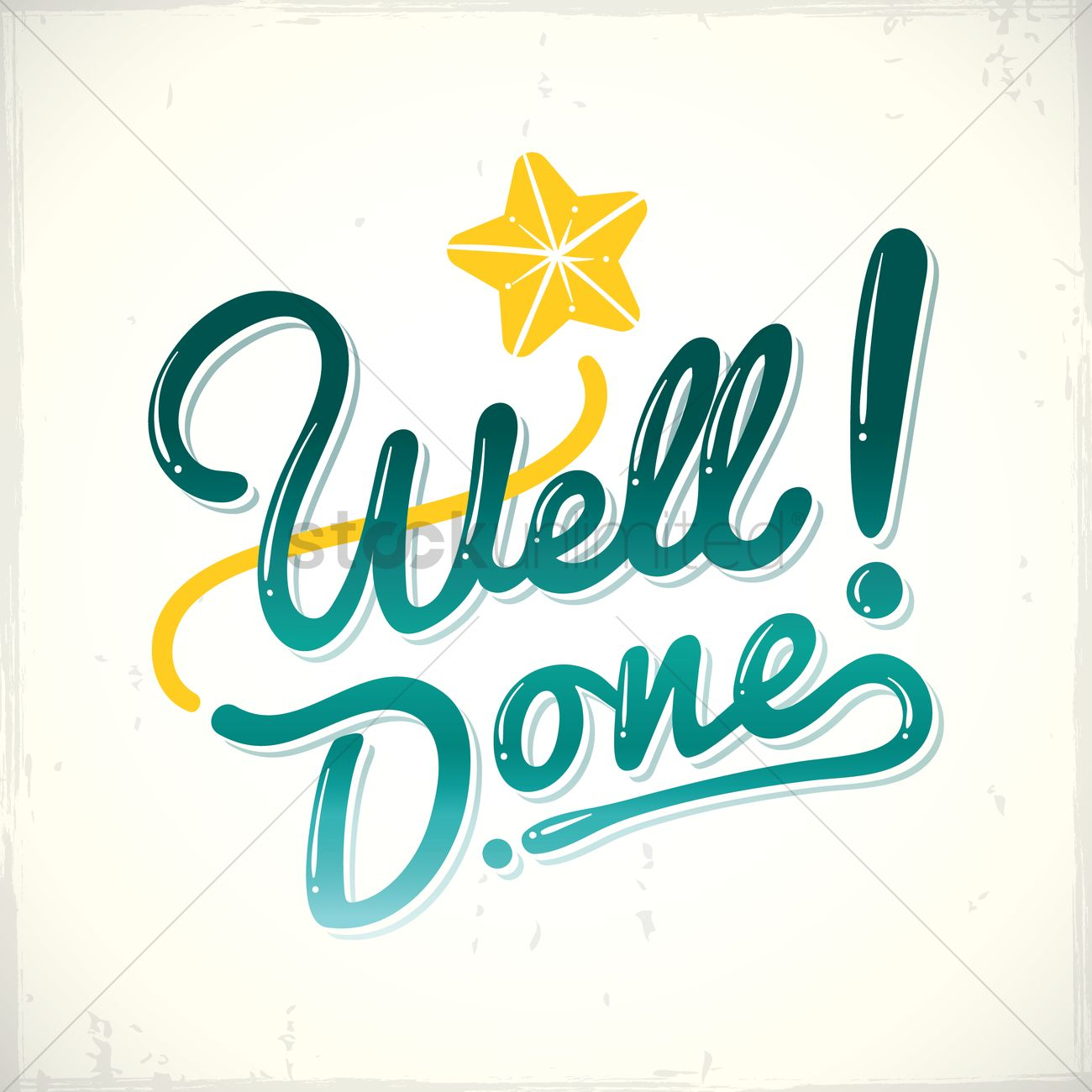 Well done greeting Vector Image - 1811340 | StockUnlimited (1300 x 1300 Pixel)